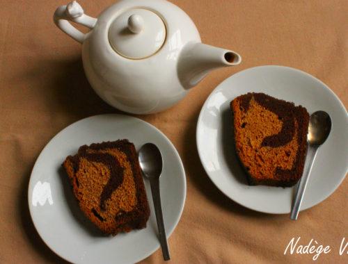 marbré citrouille - chocolat